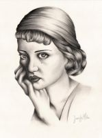 Young Bette Davis 2 by ArteDiAmore