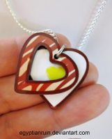 I Heart Bacon and Eggs Necklace by egyptianruin