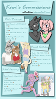 HALF PRICE Kiwi's Commission Price List by AstralKiwi