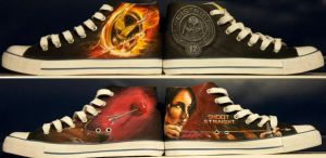hunger games shoes.. pair no3!! by danleicester