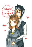 SebaZara Father and Daughter (NOT ROMANTIC) by HinataFox790