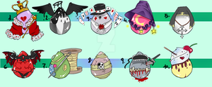 Adoptables Surprise Eggs .:Auction:. CLOSED! by HellAwaitsArts