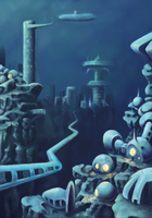 Undersea city by Kmalmsten