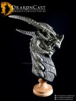 Terror Dragon bust final sculpt 1 by drakoncast