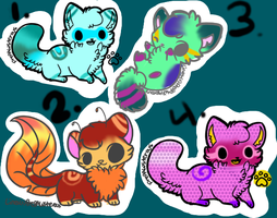 Adoptables-Only 4 Points Each!!! by bamboocath