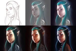 A Star Within Reach - Tauriel - WIP by endave