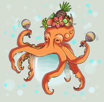 Happy Octopi by Cocodoo
