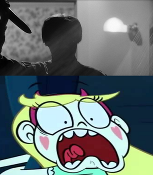 Star Butterfly sees Norman Bates by MarcosPower1996