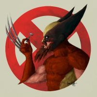 Super Movember: Wolverine by JamesBousema