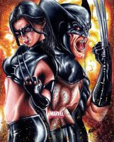 Wolverine and X-23 MU2011 AP by Twynsunz