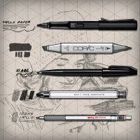My Favorite Sketching Pens by monkeycrisisonmars