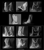 Drapery Studies by Haute-claire
