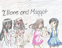 Art Trade- Illane and Maggot: What Could Have Been by FunnyLover13