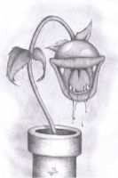 Mario - Piranha Plant (HB pencil) by SuperDeano1
