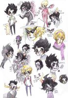 Homestuck Sketchdump by RainMentality