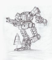 old skool mecha by muzzoid