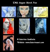 August EMG Sketch fest Montage by Katerina-Art
