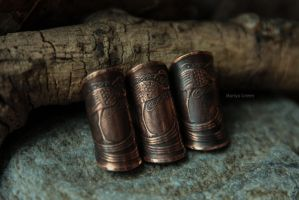 Irish Penny Earcuffs by omegaptera