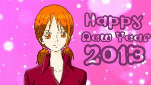 Nami Happy New Year 2013 by NicoRobin67