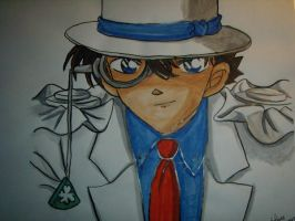 Watercolour Kaito Kid by ElisabethKudo