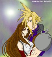 Cloud And Tifa Under Starlight by Xpand-Your-Mind