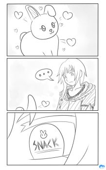 [3-Koma] Draco and Bunny by moonmute
