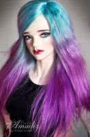 Pastels colors wig by amadiz