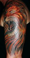 Lion Tattoo by Ralf-Amun