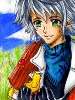 ACEO Hope and Chocobo by Dat-Taiga