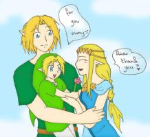 Zelda Link and their child by SparxPunx