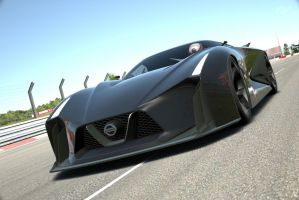 BlackNissan 2020 Concept Vision GT at Nurburgring by NightmareRacer85