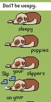 Sleepy puppies by ConfusedButAmused