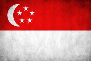 Singapore Grunge Flag by think0
