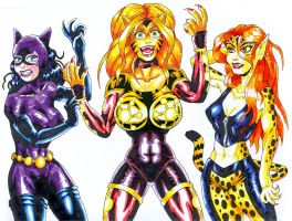 Mighty Catgirls by strangefour