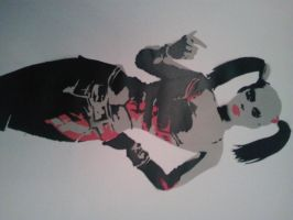 Harley Quinn Stencil by DMSpray