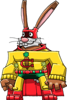 Captain Carrot (600 dpi) by Hologramzx