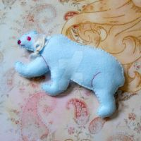 Couture Blue-Sky Polar Bear Soft Sculpture by MadameWario