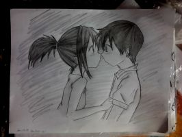 Anime couple darwing by keichan77