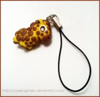 Giraffe Chibi Cell Phone Strap by CookingMaru