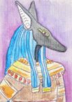 ACEO - Anubis by Vampiric-Conure
