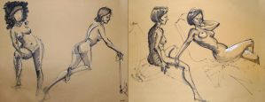 Life Drawing April 2014 by Gizmoatwork