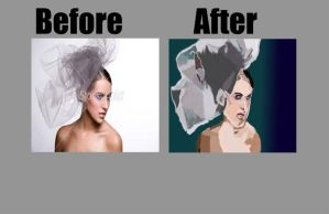 Before and After of Bride by amyleeboy16