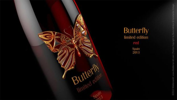 Butterfly - red wine. Concept. by INDRIKoff