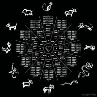 Chinese Zodiac Heartbeat Compass by RozlynnWaltz