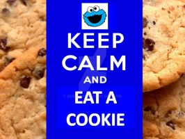 Keep Calm and Eat A Cookie! by berry331