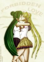 Sailor Moon - Pluto x Moon by Kibate