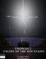 'Thomas and the Engine of the Mountains' Poster by Tinesaeriel