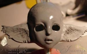 WIP Doll Head now with ears by Atelier-Cynamon