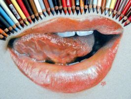 Hot lips! in pastel by SteveHargreaves