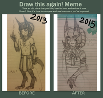 Before and After: Ammon Ra Osiris by Vaheedria